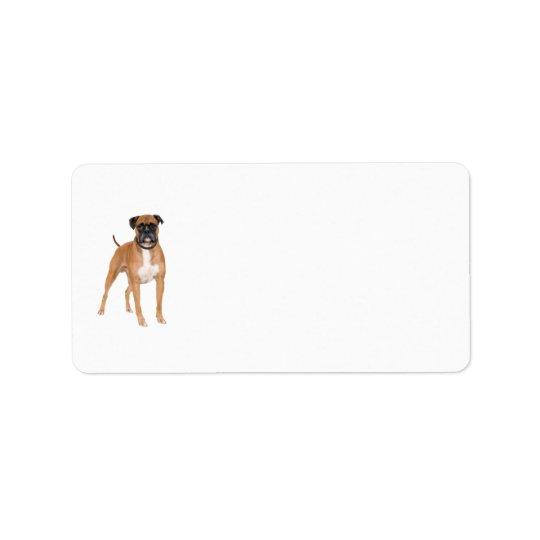 Boxer Dog Labels