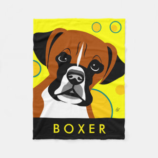 Boxer Dog Lover Gifts Fleece Blanket