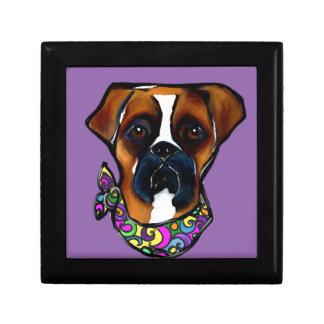 Boxer Dog Mardi Gras Gift Box
