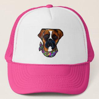 Boxer Dog Mardi Gras Trucker Hat