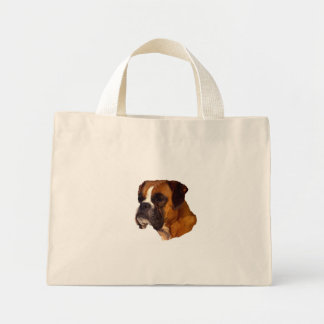 Boxer dog mini tote bag