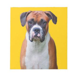 Boxer dog notepad