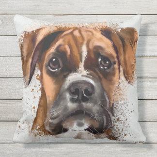BOXER Dog Outdoor Throw Pillow