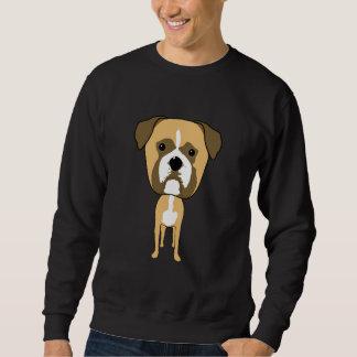 Boxer Dog. Oversized head. Sweatshirt