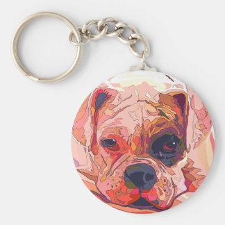 Boxer Dog Painting in Dazzling Colors Keychain