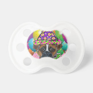 Boxer Dog Party Dog Pacifiers