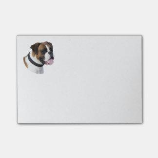 Boxer dog portrait photo post-it notes