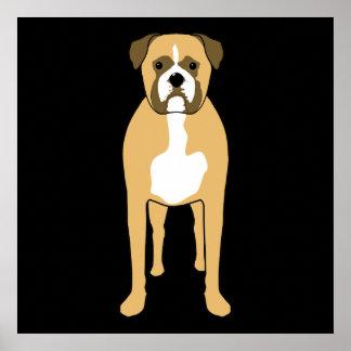 Boxer Dog. Poster