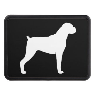 Boxer Dog Silhouette Trailer Hitch Cover
