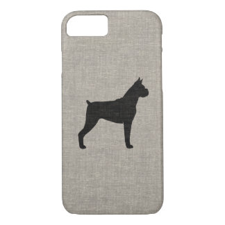 Boxer Dog Silhouette with Cropped Ears iPhone 7 Case