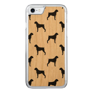 Boxer Dog Silhouettes Pattern Carved iPhone 8/7 Case