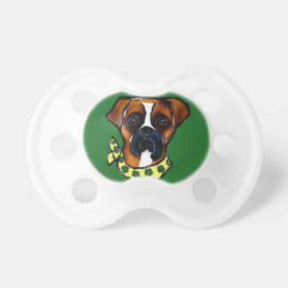Boxer Dog St. Patty Baby Pacifiers