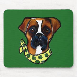 Boxer Dog St. Patty Mouse Pad