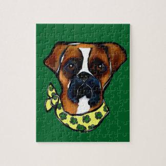 Boxer Dog St. Patty Puzzle