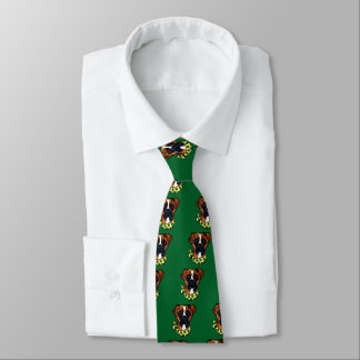 Boxer Dog St. Patty Tie