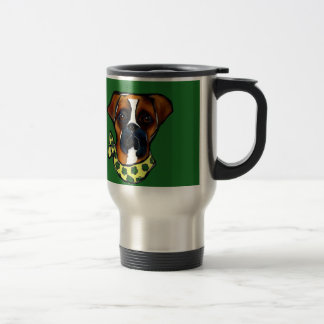 Boxer Dog St. Patty Travel Mug