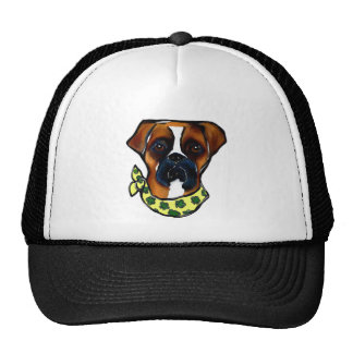 Boxer Dog St. Patty Trucker Hat