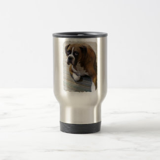 Boxer Dog Stainless Travel Mug