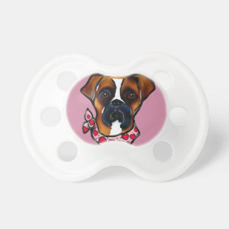 Boxer Dog Valentine Pacifiers