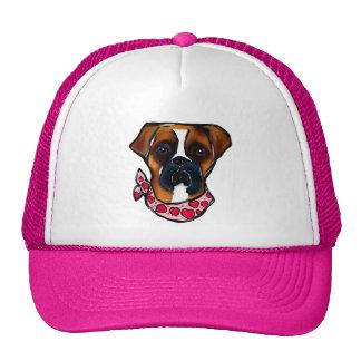 Boxer Dog Valentine Trucker Hat