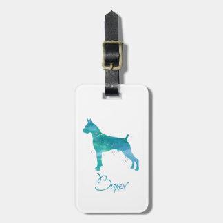 Boxer Dog Watercolor Luggage Tag