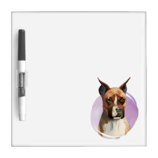 Boxer Dog Watercolor Painting Dry Erase Board