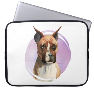 Boxer Dog Watercolor Painting Laptop Sleeve