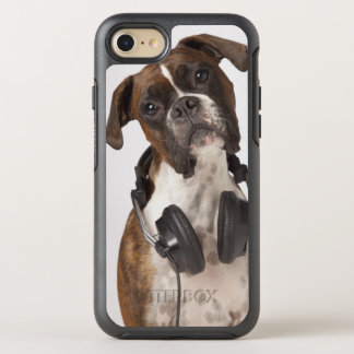 Boxer Dog with Headphones OtterBox Symmetry iPhone 7 Case