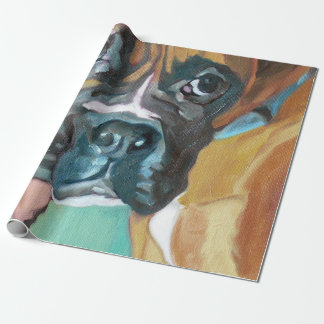 Boxer Dog Wrapping Paper