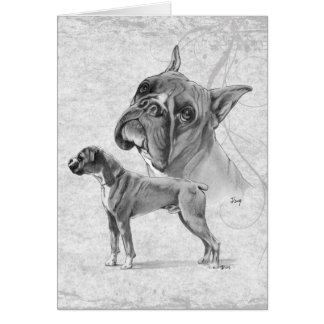 Boxer Dogs Card