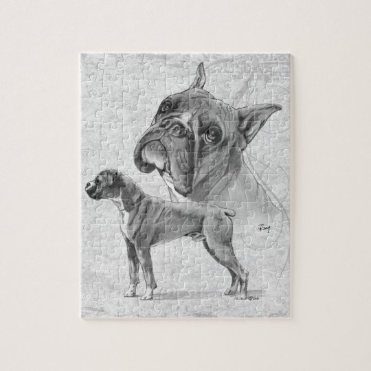 Boxer Dogs Jigsaw Puzzle
