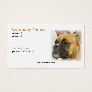 Boxer Face Business Card