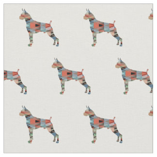 Boxer Geometric Pattern Silhouette Plaid Fabric