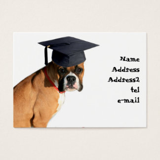 Boxer graduate business card