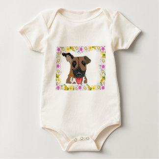 Boxer Hand Drawn Design Baby Bodysuit