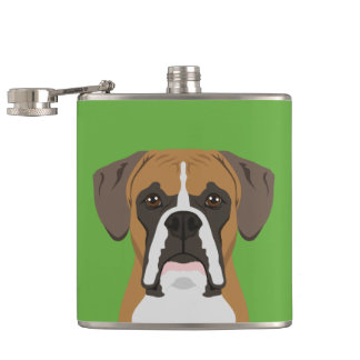 Boxer Hip Flask