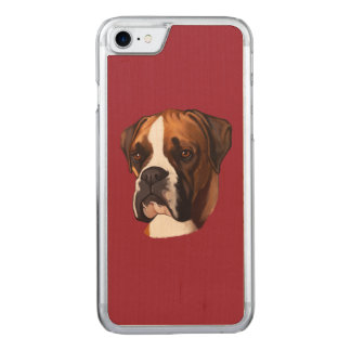 Boxer in Portrait Carved iPhone 7 Case