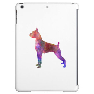 Boxer in watercolor 2 iPad air cases