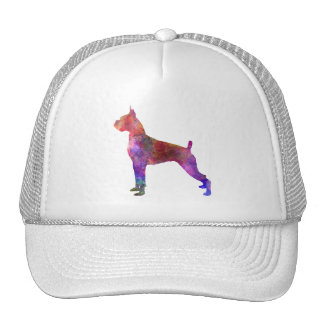 Boxer in watercolor 2 trucker hat