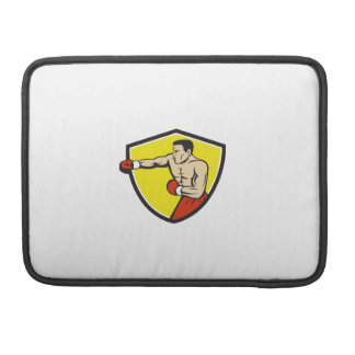 Boxer Jabbing Punching Crest Cartoon Sleeve For MacBooks