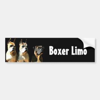 Boxer limo bumper sticker