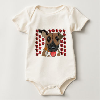 Boxer Love Baby Bodysuit