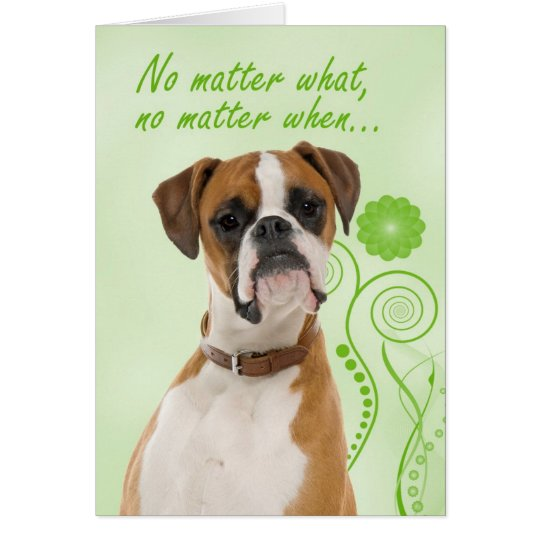 Boxer Love/Support Card
