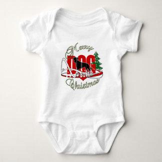 BOXER MERRY CHRISTMAS BABY BODYSUIT