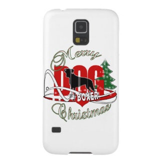 BOXER MERRY CHRISTMAS GALAXY S5 CASES