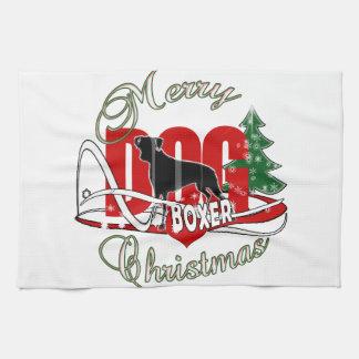 BOXER MERRY CHRISTMAS KITCHEN TOWEL