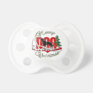 BOXER MERRY CHRISTMAS PACIFIER