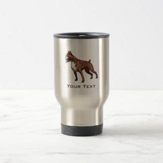 Boxer; Metal look Travel Mug