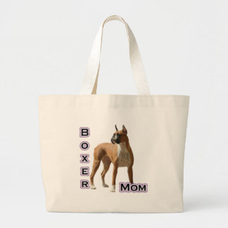 Boxer Mom 4 Large Tote Bag