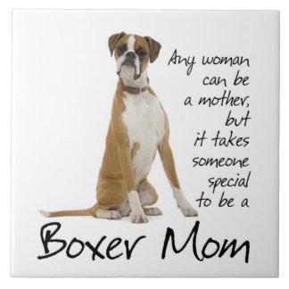 Boxer Mom Ceramic Tile